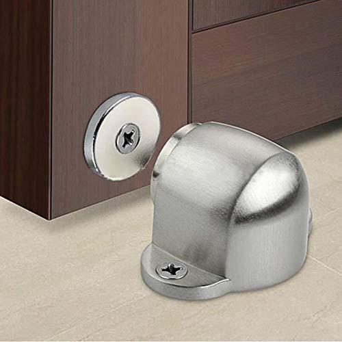 AMTXalo Tapón de puerta magnético fuerte de acero inoxidable Hardware de soporte de puerta de succión Mini tope de puerta potente con montaje de tornillo de retención