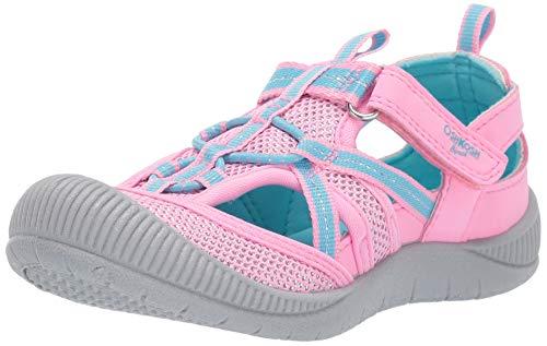 OshKosh B'Gosh Girls Myla Mesh Athletic Bumptoe Sandal, Periwinkle, 10 M US Toddler