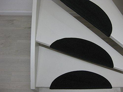 Stufenmatten Port Louis 56 x 20 cm Schwarz und taupe (Schwarz)