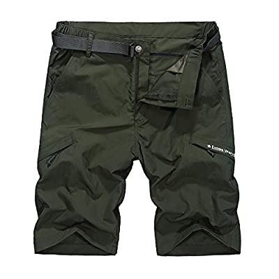 Men's Hiking Cargo Shorts Quick Drying Sun Protection Tear Resistant Outdoor Shorts with 6 Pockets