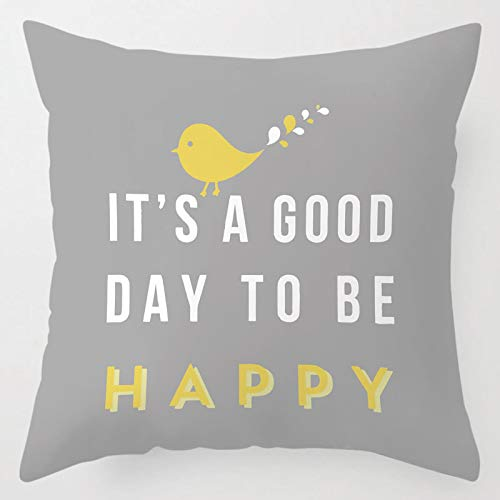 Swooggle Daisy Cushion Cover Grey And Yellow Pillow Cover Home Sofa Decorative Pillow Cover 45x45cm LLP0113-13