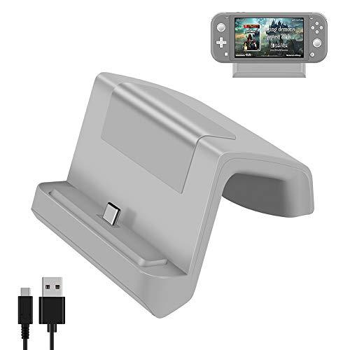 Base Dock Carregador Stand Nintendo Switch Lite - Cinza
