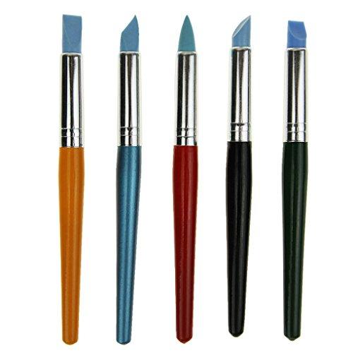 Artist Paint Brush set 5PCS acquerello gouache pittura a olio silicone pennello professionale argilla Molding Tools disegno spazzole