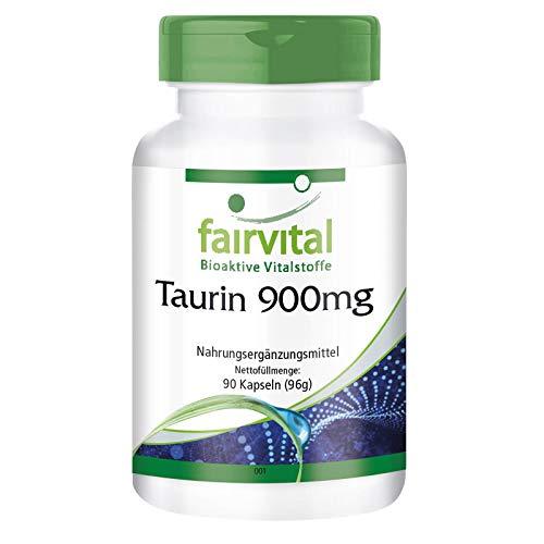 Taurine 900mg capsules - HOOG GEDOSEERD - VEGAN - voedingssupplement 90 capsules
