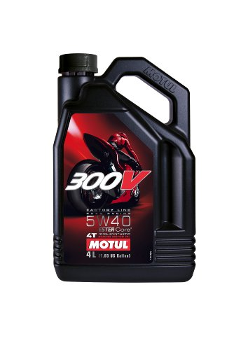 Motul 104115 300V 4T Factory Line Road Racing, 5 W-40, 4 L