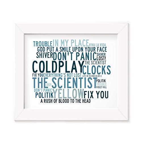 Coldplay Art Print - Anthology - Unframed Lyrics Poster