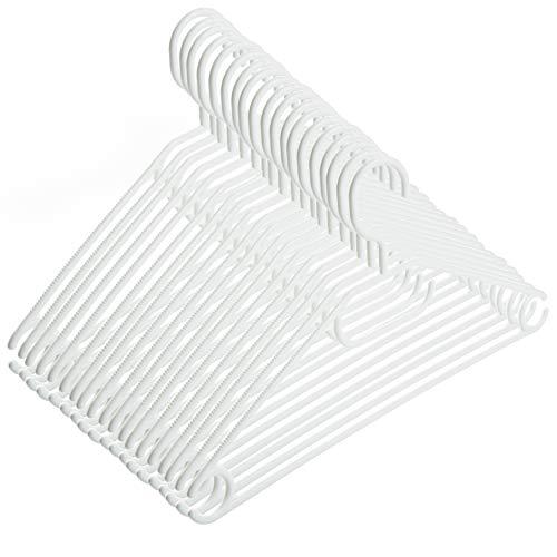 2friends 20 Kleiderbügel weiß mit drehbaren Haken, aus Kunststoff, Länge ca. 41 cm - Made in EU - Umweltfreundlich da 100% Recyclingmaterial