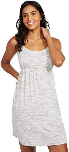 Motherhood Maternity Women s Maternity Lace Trim Nursing Nightgown Grey Space dye Medium product image