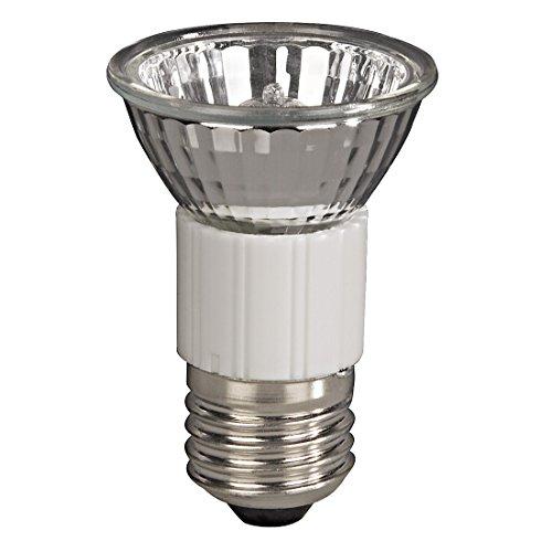 Xavax Hochvolt-Halogen-Lampe für große Einbauleuchten, Strahler, Spots, JDR Reflektorform, Dimmbar, Fassung E27, 35 Watt, Warmweiß