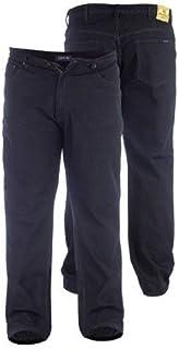 Duke London Rockford Comfort Fit Jeans - Black