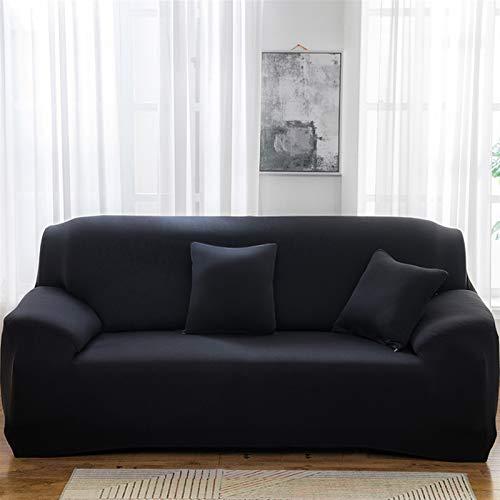 Fácil de instalar y cómodo cubierta de sofá. Cubierta del sofá, tapa de sofá de color sólido elástico Spandex Moderno todo incluido Sofá funda para la sala de estar stretch stillas cubiertas 1/2/3/4 p