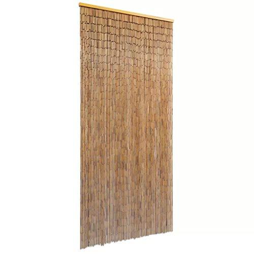 vidaXL Rideau de porte Bambou 90 x 200 cm