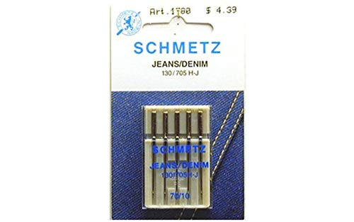 Buy Discount 25 Schmetz Jeans Denim Sewing Machine Needles 130/705H-J Size 70/10