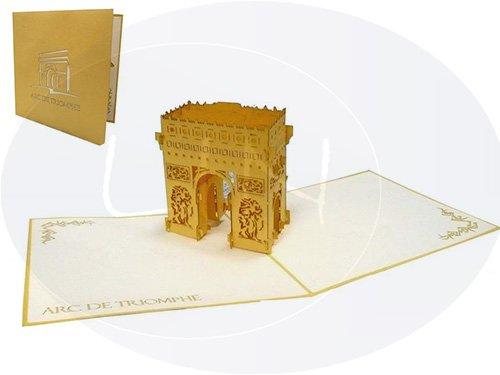 POP UP Architektur 3D Karte Arc de triomphe, Paris (#179)