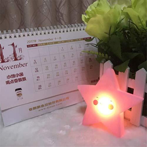 MTX Ltd Coucher de Soleil Cartoon Moon Pink Star Chambre à Coucher des Enfants Sleep Sun Night Night Light