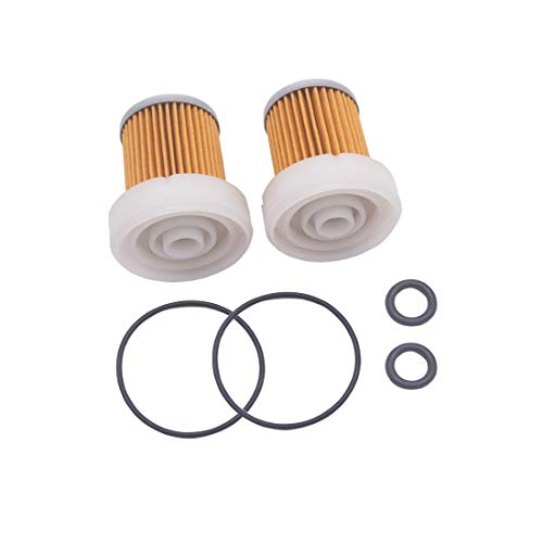 2 Pcs Replacement 6A320-59930 Fuel Filter with O ring for Kubota B3030 B7400 L3800DT L3800F RTVX1120DW RTVX1140R