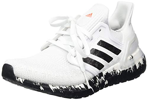 Adidas RNG Ultraboost 20 W, Zapatillas para Correr Mujer, FTWR White/Core Black/Signal Coral, 40 EU