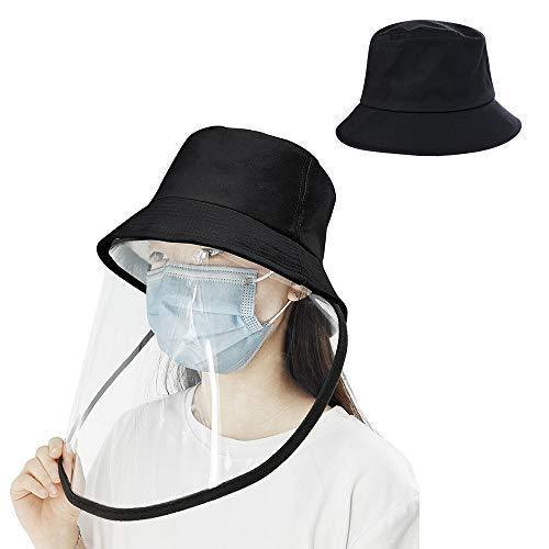 漁師帽 サンバイザー 花粉症対策 折りたたみ フェイスカバー取り外し可能 日除け帽子
