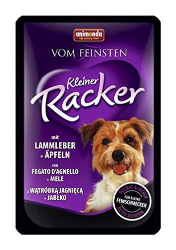 animonda Vom Feinsten Adult Hundefutter, Nassfutter für ausgewachsene Hunde, Kleiner Racker mit Lammleber und Äpfeln , 16 x 85 g