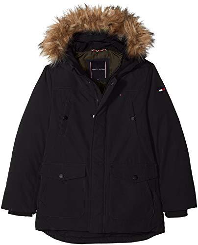 Tommy Hilfiger Jungen Arctic Parka Jacke, Schwarz (Tommy Black 014), 140 (Herstellergröße: 10)