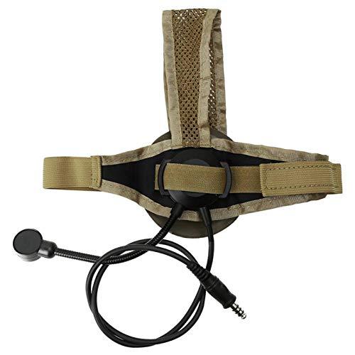 WJIN Outdoor Camping CS Game Plastic One-Side Headset Earpiece with Adjustable Headband Z028-DE One-Side Headset