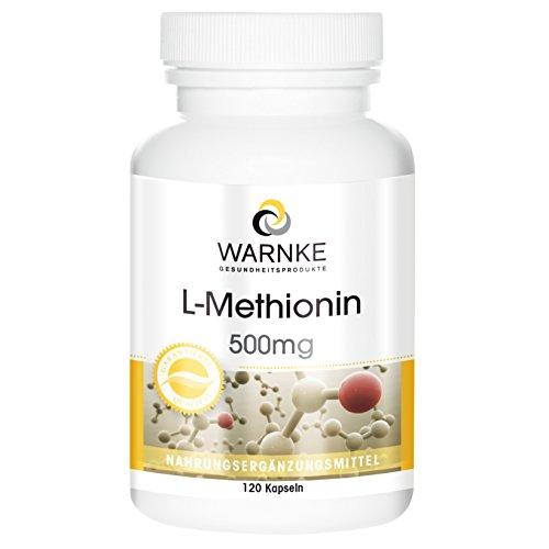 L-Metionina 500mg – Aminoácido esencial – 120 cápsulas