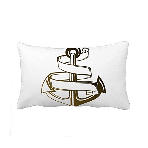 Perfecone Home Improvement Maorongbu Sostiene la funda de almohada doble impresión ancla y cuerda familia sofá cama y coche funda de almohada 1 paquete 7.9 x 11.8 pulgadas / 20 cm x 30 cm