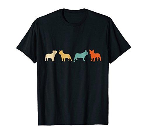 French Bulldog Shirt Vintage Retro Frenchie Mom Tee Gift