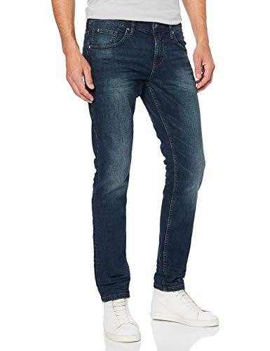 TOM TAILOR DENIM Herren Slim Piers Jeans, Blau (Dark Stone Wash Deni 10282), 34W / 32L
