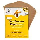 Katbite Heavy Duty Unbleached Parchment Paper 200 pcs, 12x16 inch Parchment Paper Sheets for Baking, Cooking, Frying