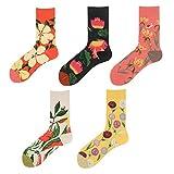 UKKD Socken Frühlingssocken Baumwolle Männliche Und Weibliche Paare Stockin,5 Paare