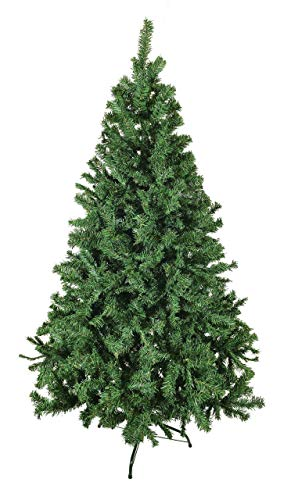 Luxury 5ft 6ft 7ft 8ft 9ft 10ft 12ft Green Artificial Christmas Trees -Bushy High Tip Count Xmas Trees (6ft / 180cm)