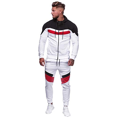 Men's Tracksuit Set 2 Piece - Full Zip Camo Hoodies Sports Jacket and Pants Casual Warm Jogging Sweat Suits by Chaofanjiancai