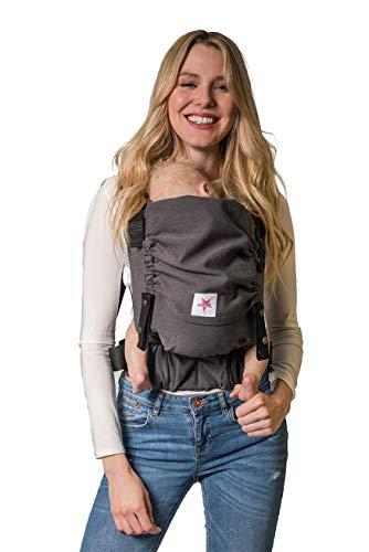 Babytrage: KOKADI® Flip - Just Mr. Grey (Baby) ✓ Neugeborene & Kleinkinder ✓ Ergonomisch ✓ Steg verstellbar ✓ Bio-Baumwolle ✓ ab Geburt bis 20kg ✓ GRATIS Beutel