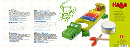 HABA Symphony Croc Music Band Set with 4 Instruments for Ages 2 and Up