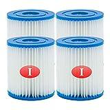 WRYIP Tipo I reemplaza los Cartuchos de Filtro para Bestway,Cartucho de Filtro de para Bestway 58093 Piscina, Filtro de Limpieza de Piscina Inflable (4 Piezas)