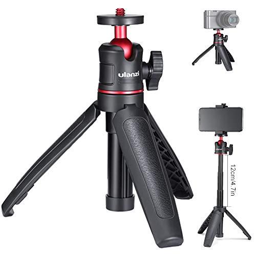 MT-08 Prolunga Palmare Allungabile Smartphone Treppiede da Tavolo Mini Selfie Stick 1/4' Impugnatura...