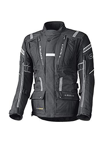 CRUIZER HELD Touring Jacke HAKUNA II schwarz-grau für Herren aus Cordura DU PONT 500 D, Coolmax Futter hoch atmungsaktiv, wasserdicht, winddicht XL schwarz / grau