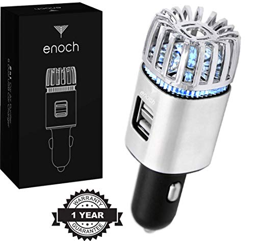 Best Prices! Enoch Car Air Purifier with USB Car Charger 2-Port. Car Air Freshener Eliminate Odor, D...