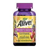Nature's Way Alive! Women's Gummy Multivitamin, Fruit & Garden Veggie Blend, Full B Vitamin Complex, Gluten Free, made With Pectin, 130 Count