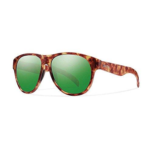 Smith Optics Townsend Sunglass with Sol-X Carbonic TLT Lenses, Matte Yellow Tortoise Frame, Green Sol-X Lenses