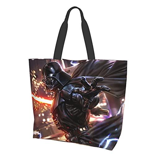 Star Wars Darth Vader Bolsa de hombro de alta capacidad, ligera y portátil, impermeable y resistente al desgaste bolsa de la compra