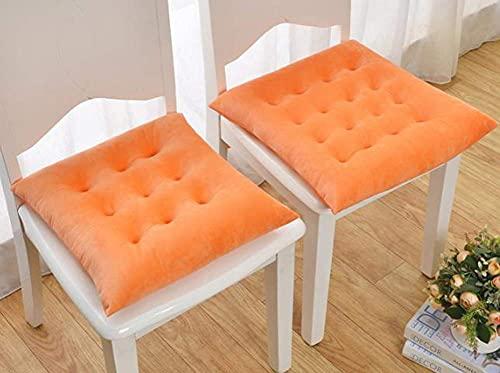 SHBV Cojines para sillas, Cuadrados, Comedor, Oficina, Cojines para sillas, Juego de 2 Cojines para Asientos de jardín, Coloridos Cojines para el Asiento del Coche, con Lazos, para el hogar, al a
