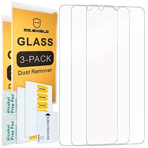 [3-PACK]-Mr.Shield Designed For Samsung Galaxy M30 [Tempered Glass] Screen Protector with Lifetime Replacement