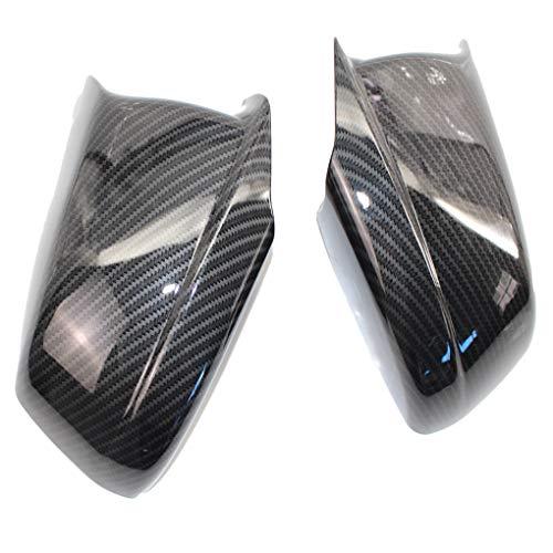 ELENXS 1 Paar Ersatz für die 5-Serie F10 / F11 / F18 GT 10-13 Rechts Links-Außenspiegel-Kappen Rear View Mirror Covers
