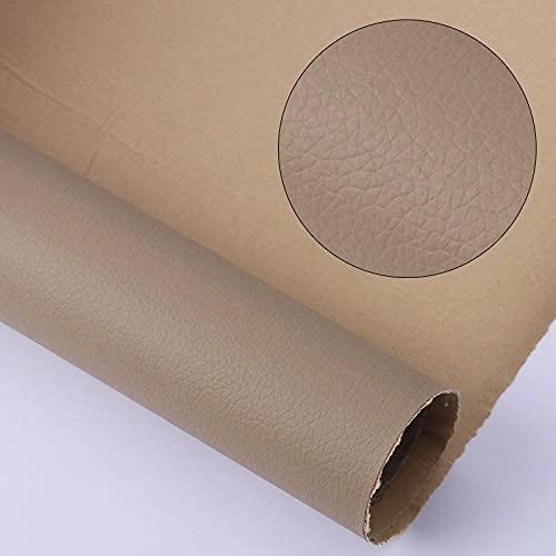 Kit de Parche de Piel,Parches de Piel Cuero Artificial, para Sofá Asientos de Coche Pegatina de Reparación de Polipiel Parches Oro ceniza 50X138CM