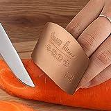 AGAN Dedo Dedo del Acero Inoxidable 1PC Guardia de Seguridad Protector de Cuchillo de Corte Verduras protección del Dedo Herramienta Creativa Cocina Gadget