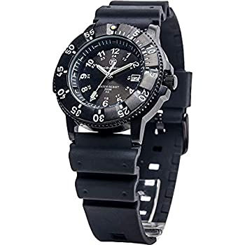 Smith & Wesson Men s Sports Watch Swiss Tritium H3 20ATM Black Dial and Band Military Tactical Tough Watch 40mm