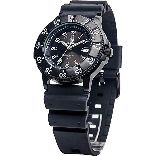 Smith & Wesson Sport Swiss Tritium H3 20ATM Black Dial and Band Military Tactical Tough Watch, 40mm