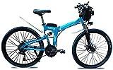 Bicicleta electrica Bicicleta eléctrica Plegable para Adultos Ciudad Urbana Ebike Ciudad de Ebike Motor 1000W Motor y 48V 13Ah Batería de Litio Velocidad máxima 35 km/h Capacidad de Carga 150 kg de